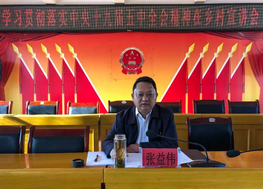 张益伟到曩宋阿昌族乡宣讲党的十九届五中全会精神